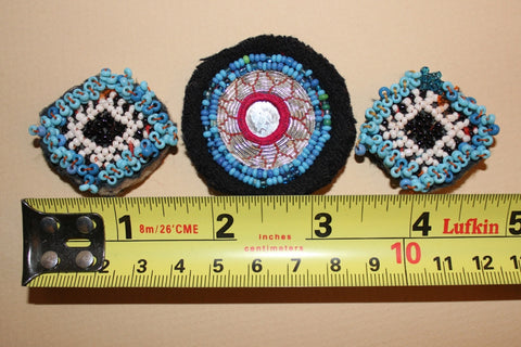 Blue Beaded Guls with Silver Embroidery size reference