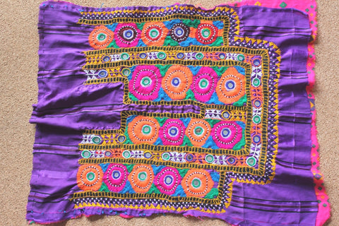Bright Embroidered Tribal Dress Yoke 2