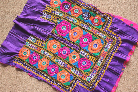 Bright Embroidered Tribal Dress Yoke