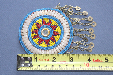 Starburst Medallion with Shells and Chain Fringe