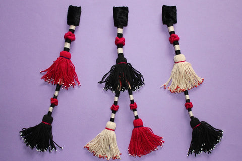 Vintage Trio of Silk Turkoman Tassels