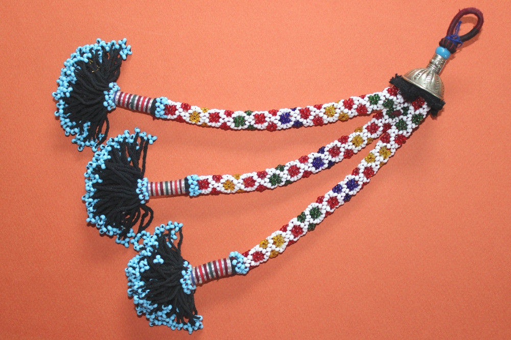 "Beaded Tribal Tassel (11"") Multicolored"