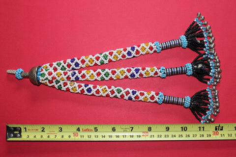 "12"" beaded tassel with many small bells - size ref"