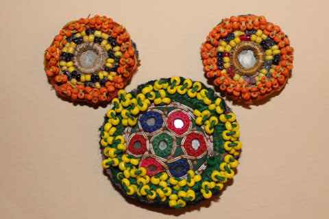Beaded Tribal Medallions with Mirrors