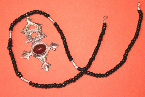 Tuareg Southern Cross with Carnelian Cabochon