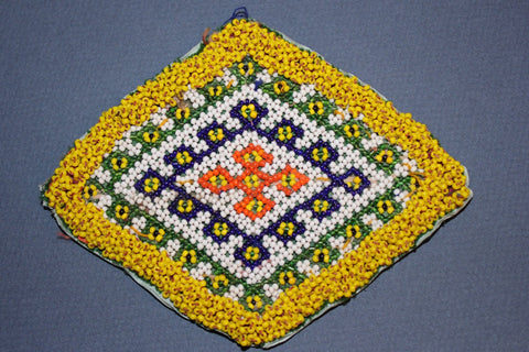 Diamond Medallion with Fine Bead Work