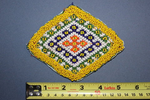 Diamond Medallion with Fine Bead Work size reference