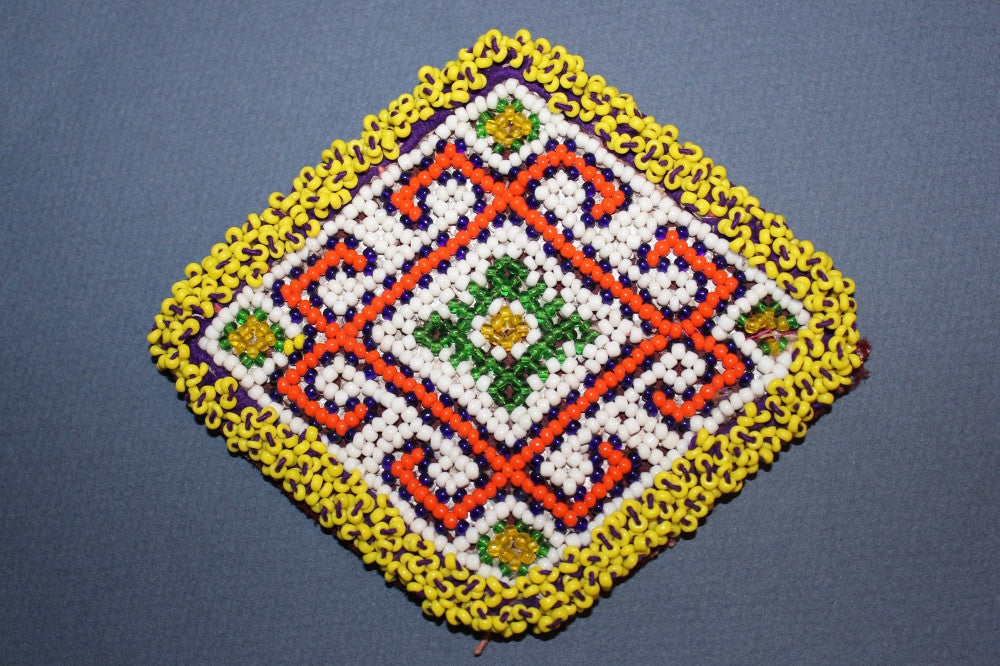Diamond Medallion with Bold Orange Pattern