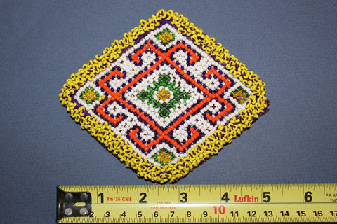 Diamond Medallion with Bold Orange Pattern size reference