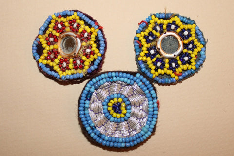 Embroidered Tribal Patches with Beading and Mirrors