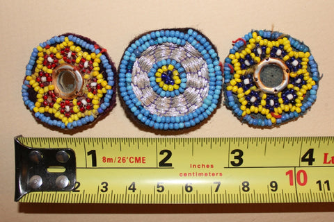 Embroidered Tribal Patches with Beading and Mirrors size referene