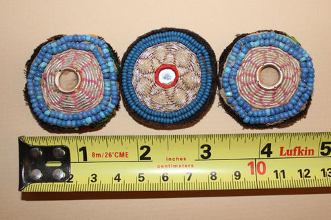 Faded Metallic Embroidery with Blue Beading size reference