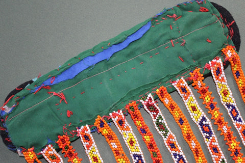 Colorful Heavily Beaded Belt Base back view