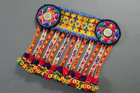 Brightly Colored, Heavily Beaded Belt Base