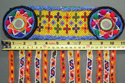 Colorful Heavily Beaded Belt Base size reference
