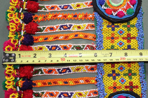 Colorful Heavily Beaded Belt Base size 2