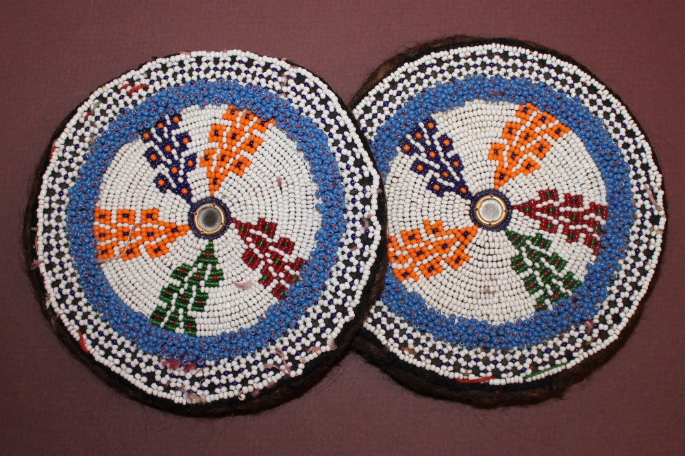 Large Colorful Beaded Medallions