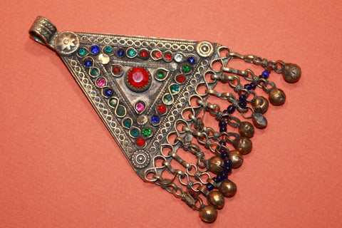 Large Triangular Kuchi Tribal Pendant