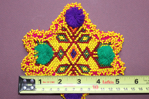 Star Shaped Pair of Beaded Medallions size ref