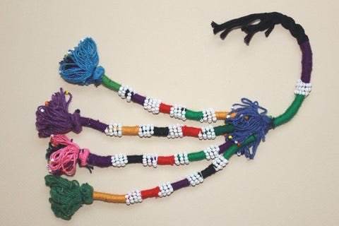 Colorful Beaded Cotton Tassel
