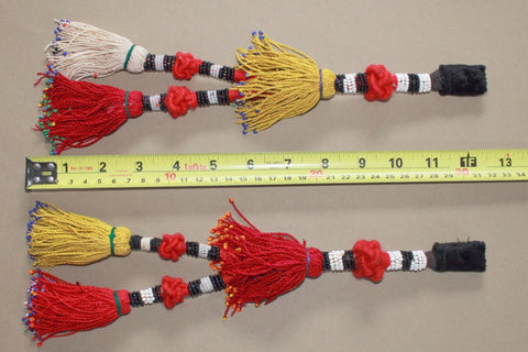 Vintage Pair of Turkoman Tassels with Knotted Accent size