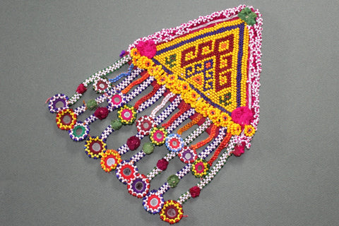 XL Tribal Patch with 17 Beaded Dangles