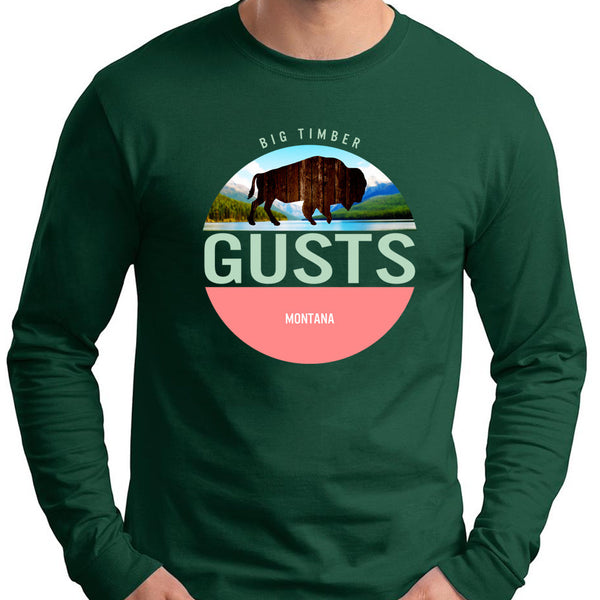 Bison Cut Out Long Sleeve T-Shirt