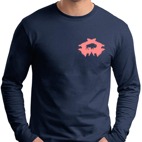 Bison Arrowhead Long Sleeve T-Shirt