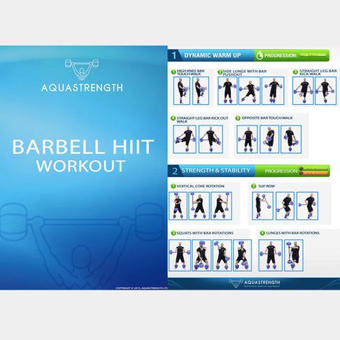Aquastrength Barbell HIIT Workout Program Printout