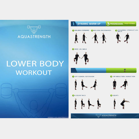 Aquastrength Lower Body Workout Printout