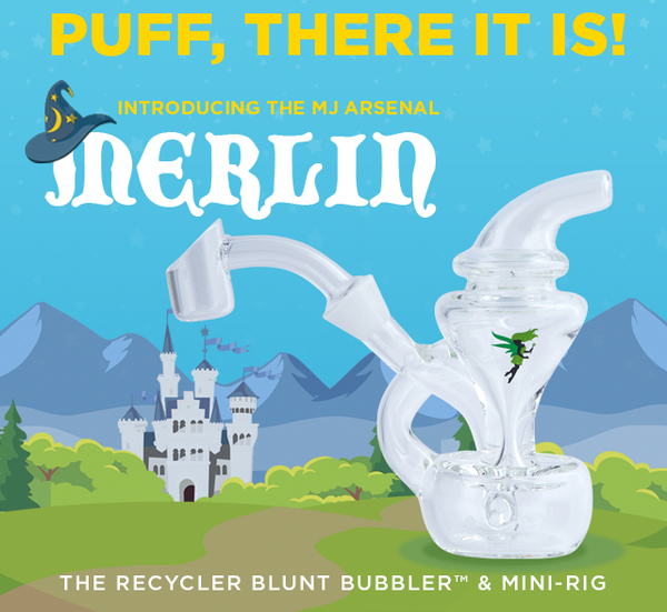 MJ Arsenal Merlin Blunt Bubbler & Mini Rig