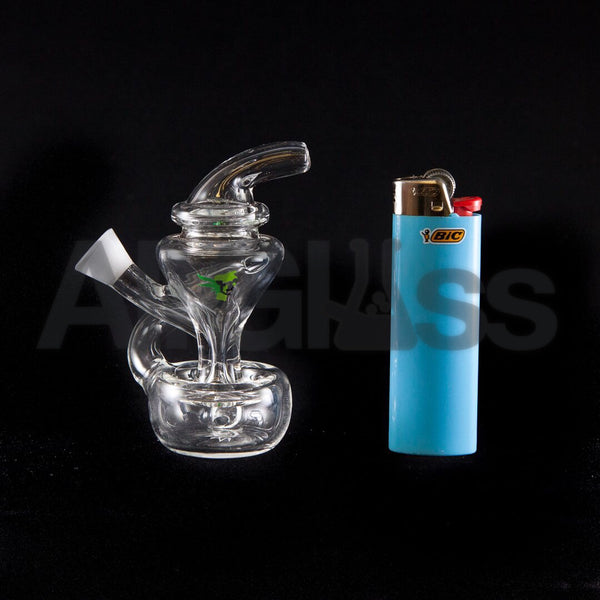 MJ Arsenal Merlin Joint Recycler Bubbler AllGlass Lighter BIC Comparison