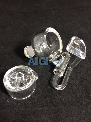 East 8th Glass Quartz Honey Bucket and Cap - 10mm Female