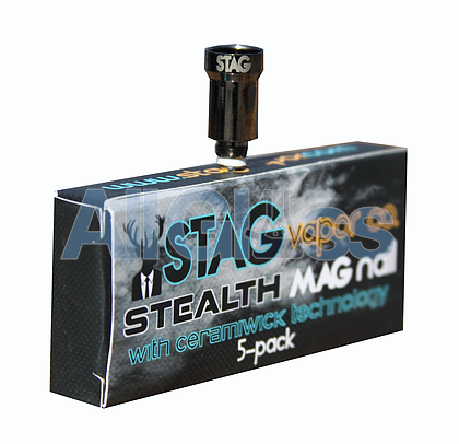 Stealth Mag Nail with Ceramiwick Single , Vaporizers - STAG Vapor Co., AllGlass.com