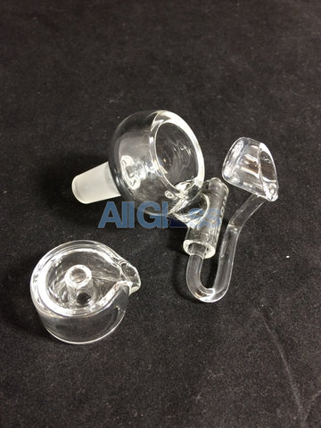 East 8th Glass Quartz Honey Bucket and Cap - 14mm Male