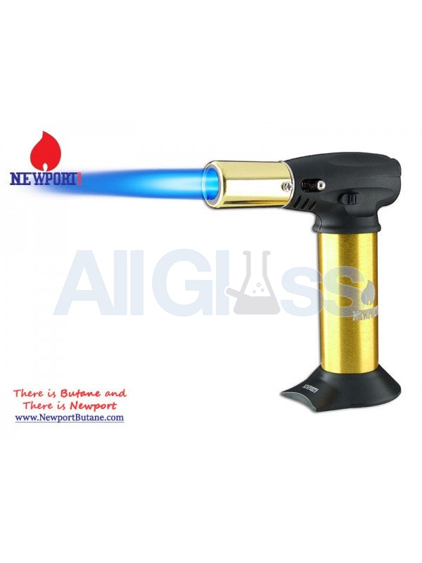 "Newport Zero 5"" Junior Turbo Torch - Gold , Smoking Accessory - Newport Butane, AllGlass.com  - 1"