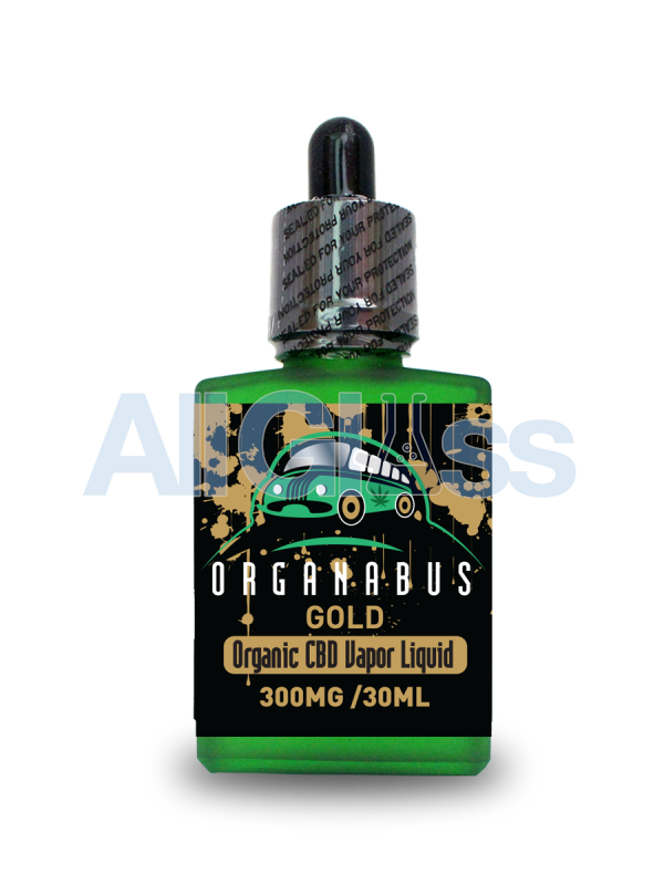 Organabus Organic Strawberry Gold CBD E-Juice  - 300mg [30ml Bottle]