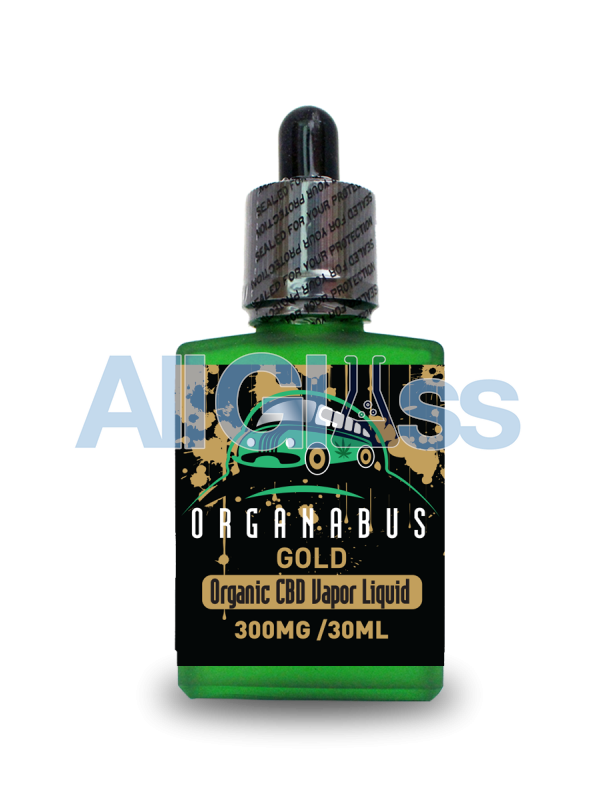 Organabus Organic Mint Gold CBD E-Juice - 300mg [30ml Bottle]