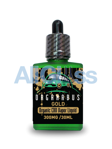 Organabus Organic Natural/Unflavored Gold CBD E-Juice  - 300mg [30ml Bottle]