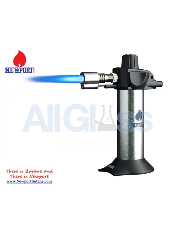 "Newport Zero 5.5"" Mini Torch - Silver , Smoking Accessory - Newport Butane, AllGlass.com  - 1"