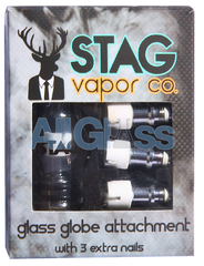 Glass Globe Attachment w/ 3 Extra Nails , Vaporizers - STAG Vapor Co., AllGlass.com  - 1