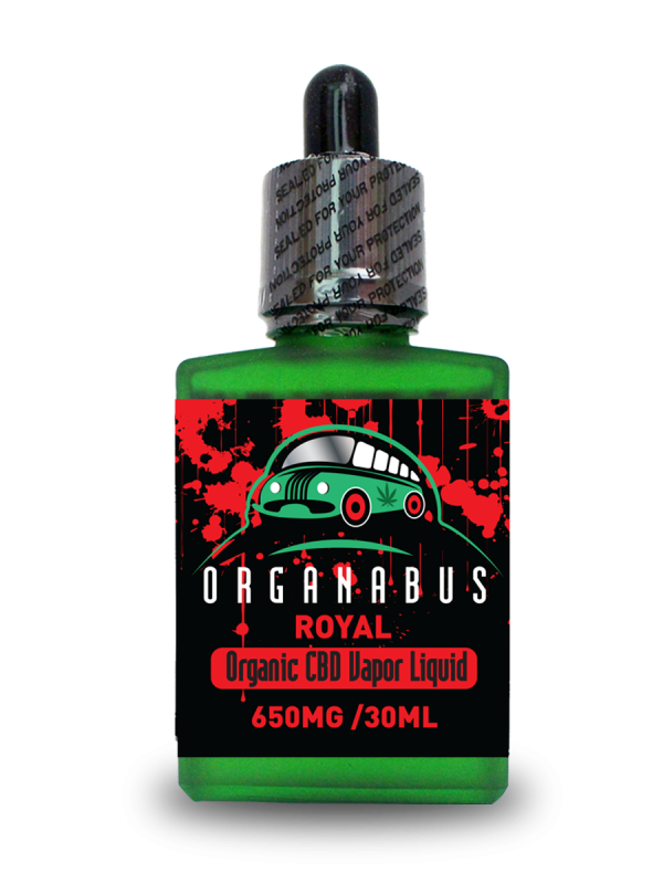 Organabus Organic CinnaMint Royal CBD E-Juice - 650mg [30ml Bottle]