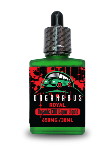 Organabus Organic Natural/Unflavored Royal CBD E-Juice  - 650mg [30ml Bottle]