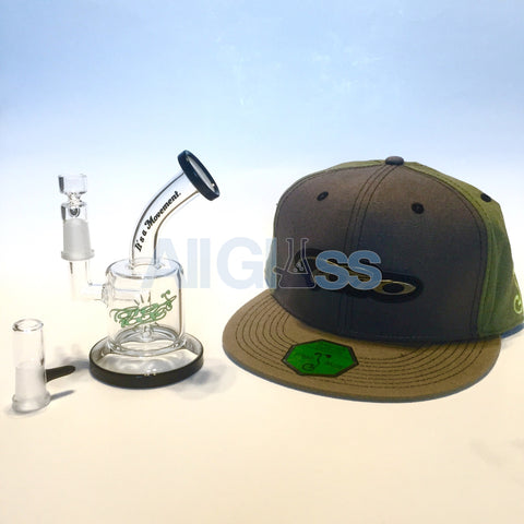TORO Glass x Grassroots California Collaboration MAC XL - Gray Snapback , Glass Waterpipe - AllGlass.com, AllGlass.com
