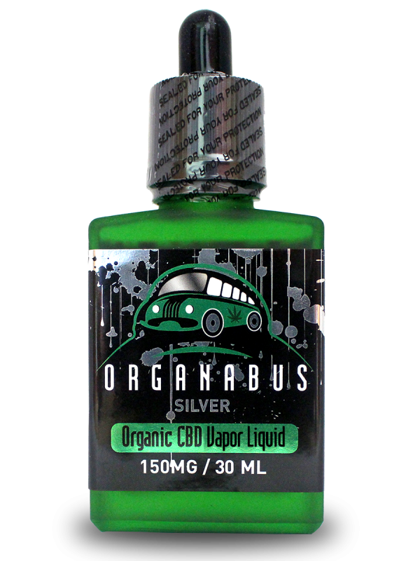 Organabus Organic CinnaMint Silver CBD E-Juice  - 150mg [30ml Bottle]