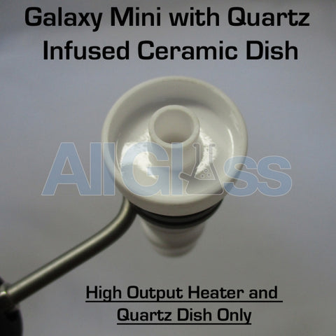 Galaxy E-Nail - Replacement Galaxy Mini Quartz Infused Ceramic Dish with High Output Coil Heater , ENails - Galaxy ENail, AllGlass.com