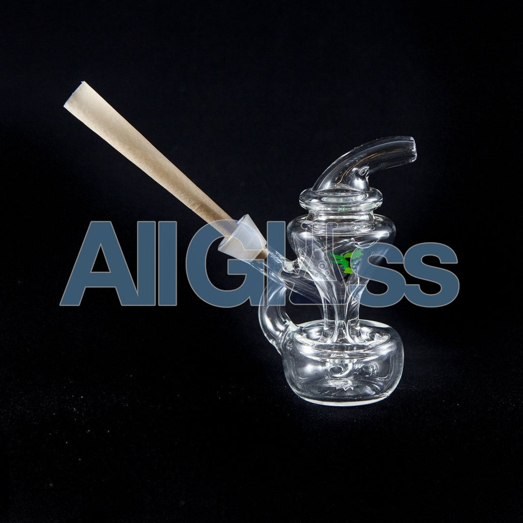 MJ Arsenal Merlin Recycler Cone Joint Blunt Bubbler Travel Rig AllGlass