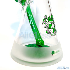 Illadelph Glass Frosted Signature Series V2.1 Micro Beaker - Green Label , Glass Waterpipe - AllGlass.com, AllGlass.com  - 2