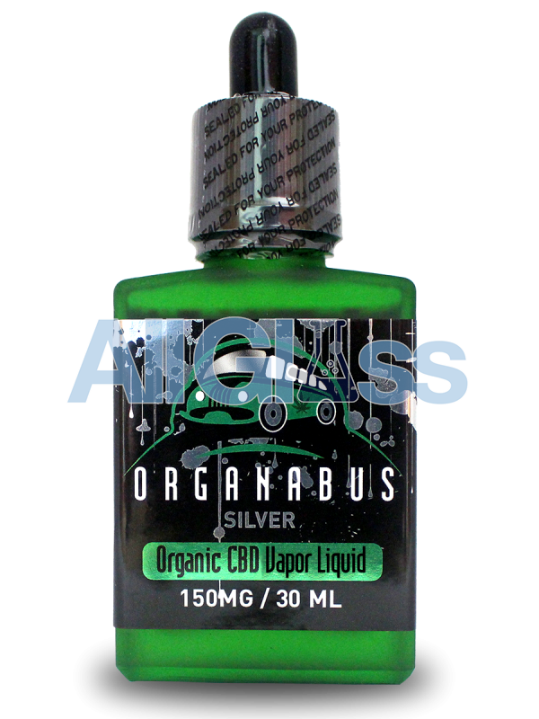 Organabus Organic Silver CBD E-Juice Liquid - Natural/Unflavored 30mg 150 ml