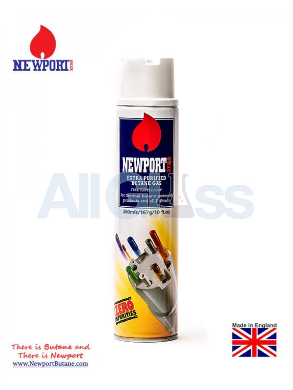 NEWPORT ZERO BUTANE LIGHTER GAS EXTRA PURIFIED 300 ml , Smoking Accessory - Newport Butane, AllGlass.com  - 1
